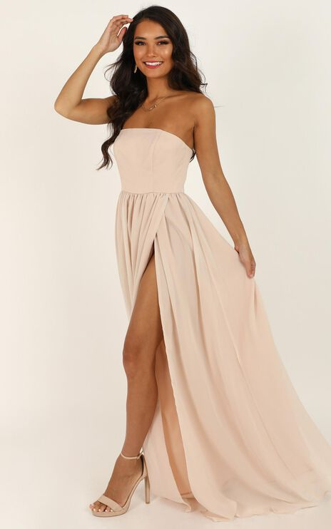 Love Bound Maxi Dress In Champagne