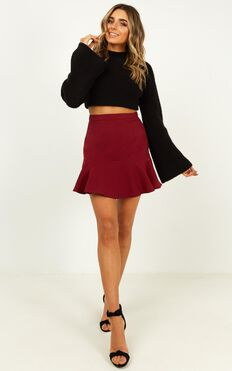Want To Be Me Skirt In Wine