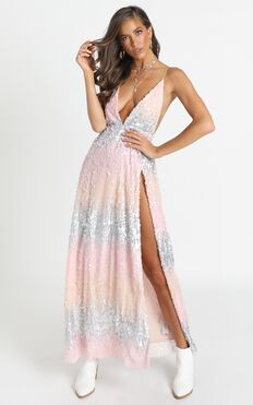 This Is For You Dress In Multi Sequin