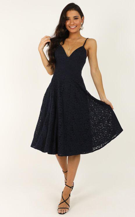 Far Beyond Dress In Navy Lace