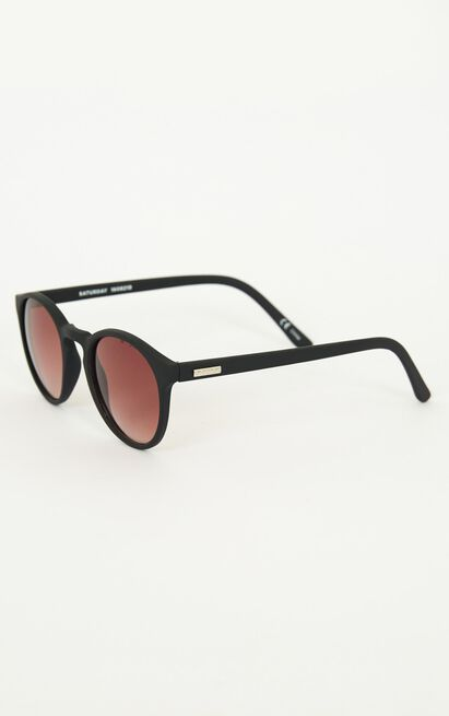 MinkPink - Saturday Sunglasses In Black Rubber, , hi-res image number null