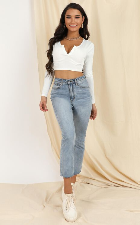 Growing On Me Top In White