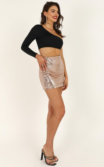 Its Fair Game Skirt in rose gold sequin - 18 (XXXL), Rose Gold, hi-res image number null