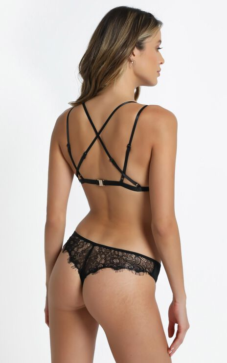 Kat The Label - Virtue Thong in Black Lace