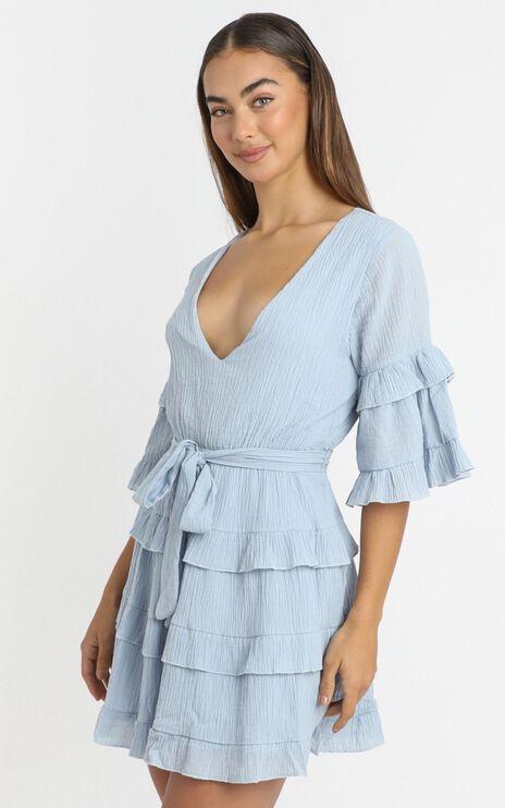 Meet Me In The Sun Dress in Blue