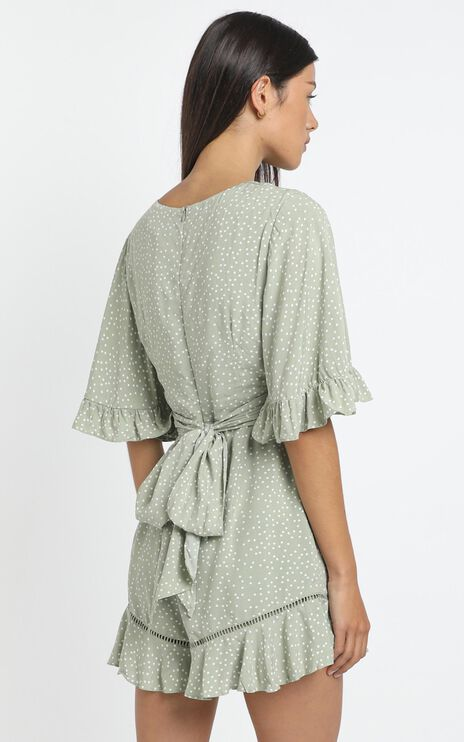 Herbert Playsuit in Sage Spot
