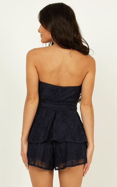 I Never Knew Love Playsuit in navy lace - 20 (XXXXL), Navy, hi-res image number null