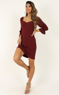 Deep Search Dress In Wine