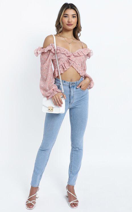 Ayala Top in Pink Floral