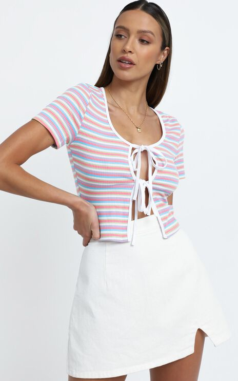 Tara Top in Blush Stripe
