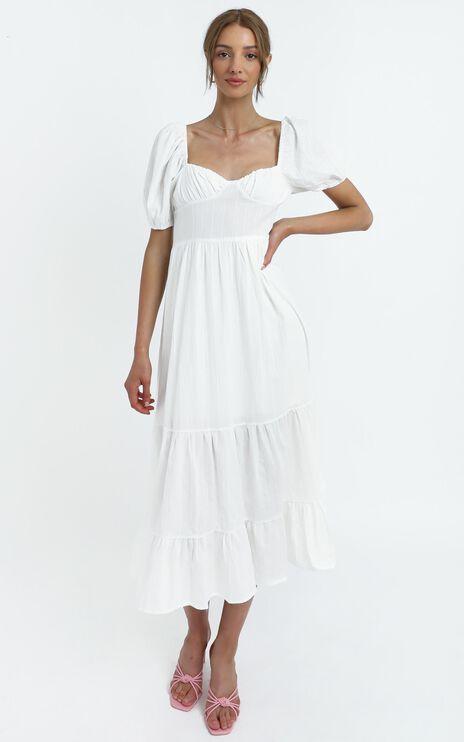 Preston Dress in White
