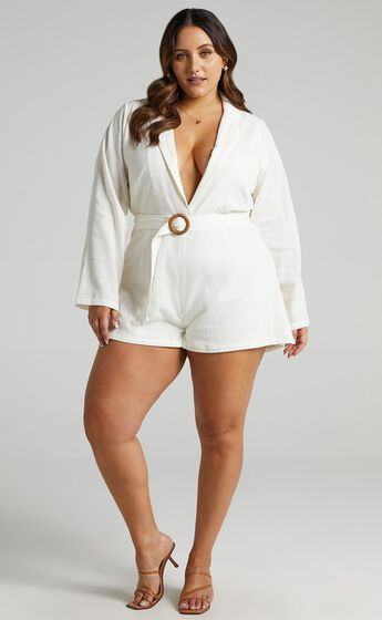 Annona Playsuit in Off White