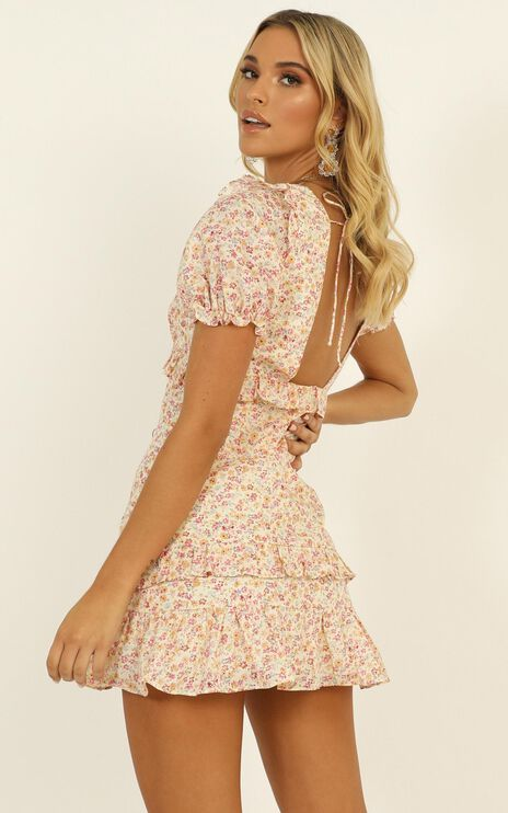 Strawberry Kisses Dress In Multi Floral