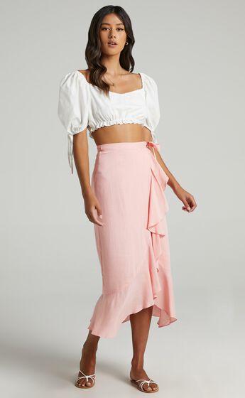 Camellia Skirt in Peach