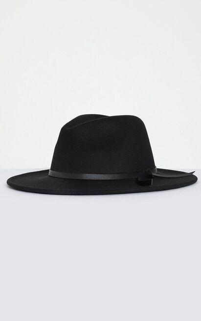 Lara Felt Hat in Black, , hi-res image number null