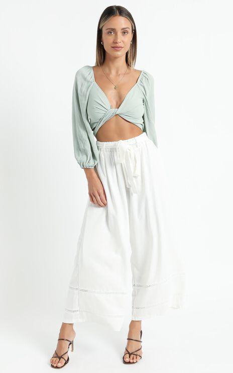 Better Believe It Pants in White Linen Look
