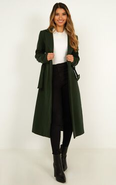 Green With Envy Coat In Forest Green