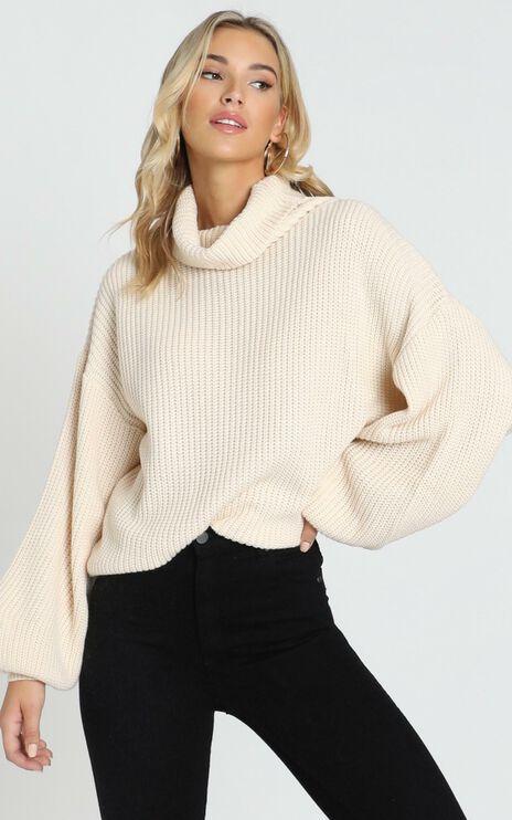 Steam Ahead Knit Jumper in Cream