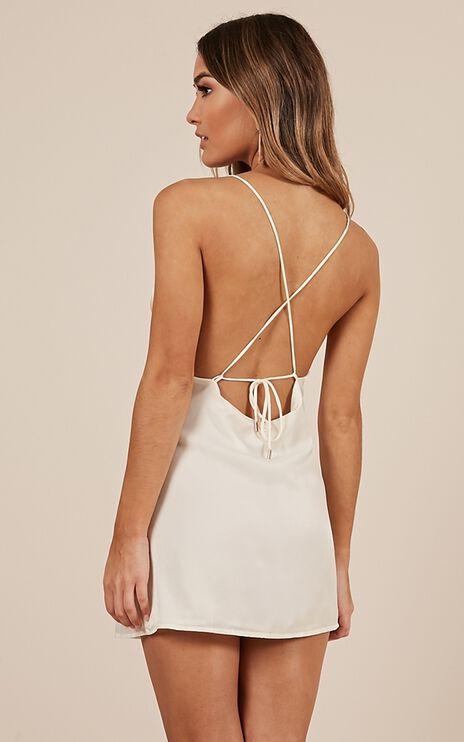 Mean So Much Dress In White Satin
