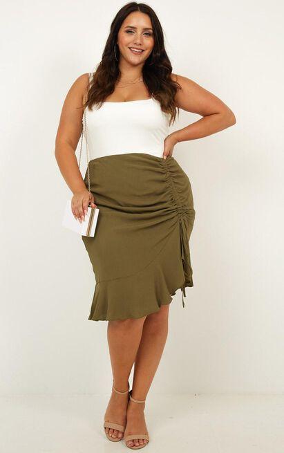 Never Forget Skirt In khaki - 12 (L), Khaki, hi-res image number null