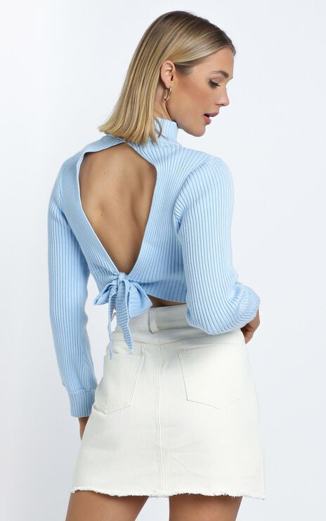 Cisco Knit Top in Baby Blue