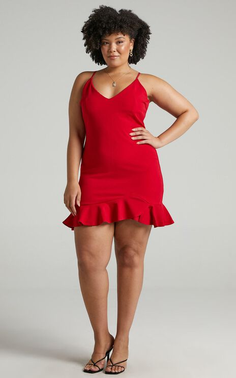 Turning It Up Dress In Red