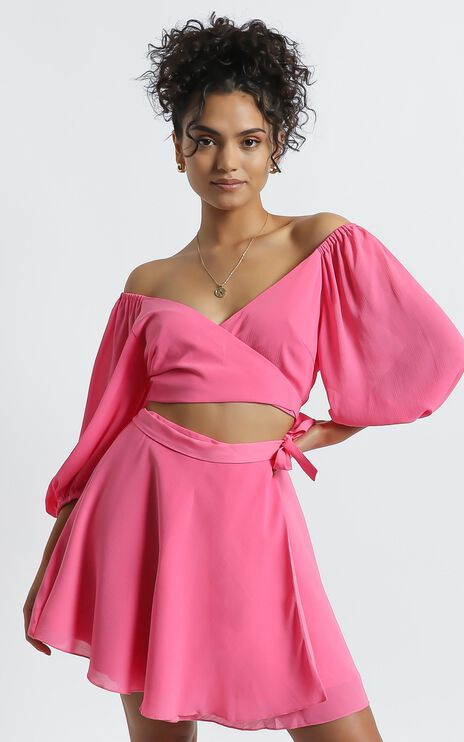 Jadey Two Piece Set in Hot Pink