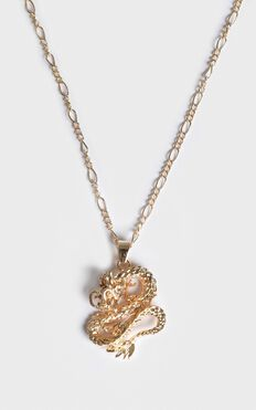 Cool Vibes Serpent Necklace In Gold