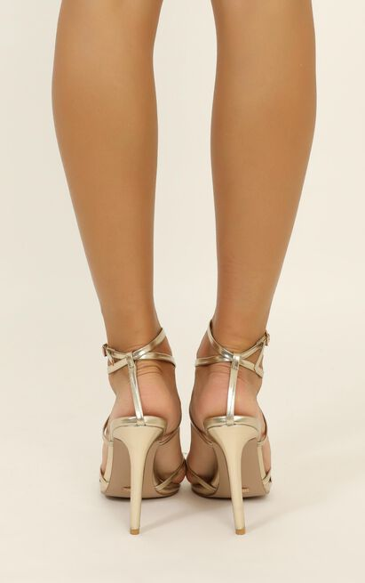 Billini - Tulum Heels In light gold metallic - 10, Gold, hi-res image number null