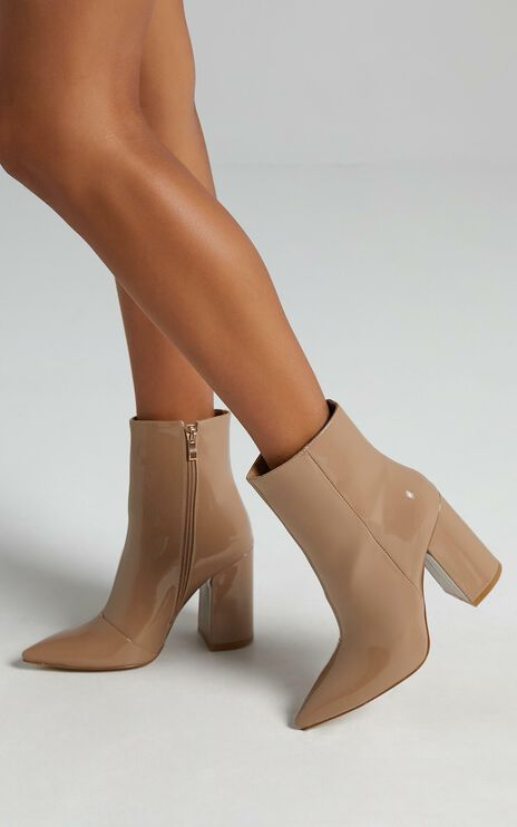 Billini - Tio Boots in Taupe Patent