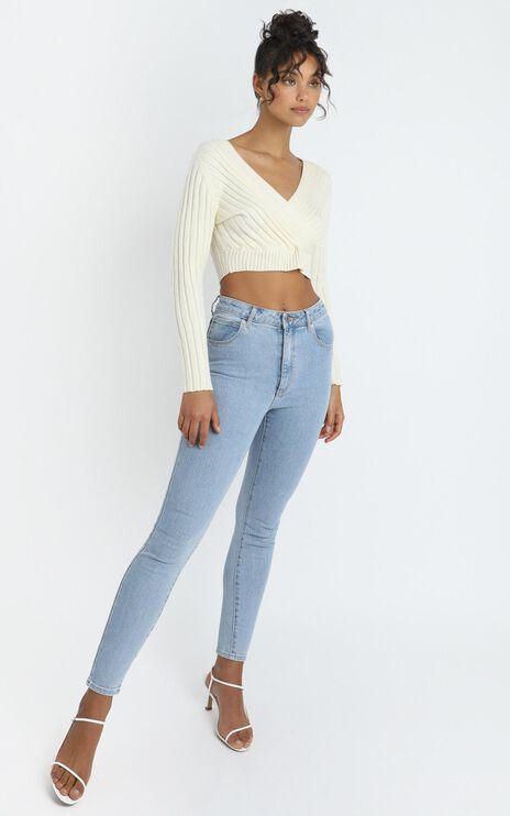 Zina Knit Top in Cream