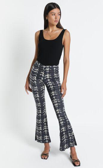 Alexi Flare Pants in Black Print