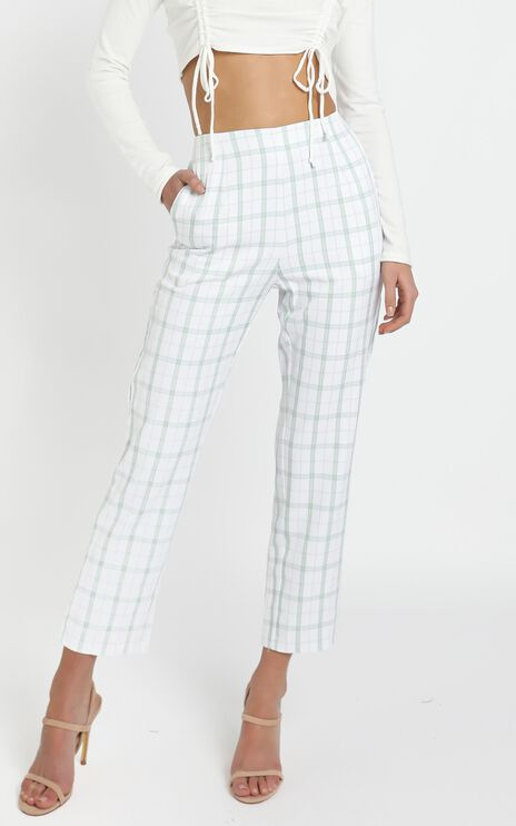 Fletcher Pant in Sage Check