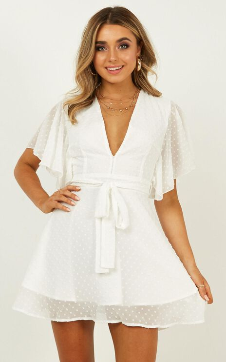 One Sweet Day Dress in White