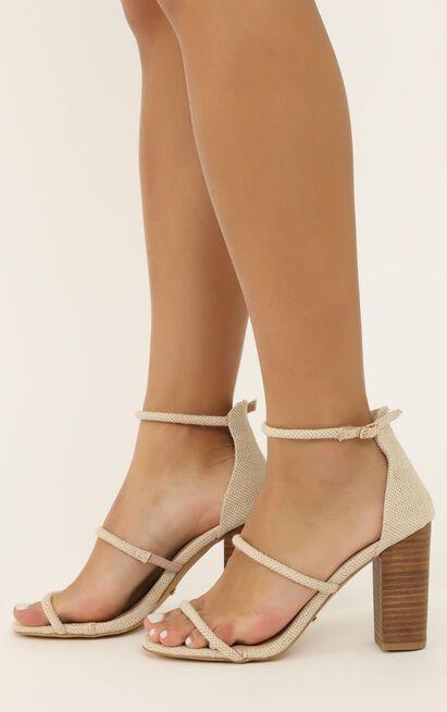 Billini - Marlie Heels in natural linen look - 5, Brown, hi-res image number null
