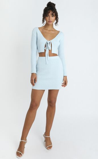 Winifred Skirt in Pastel Blue