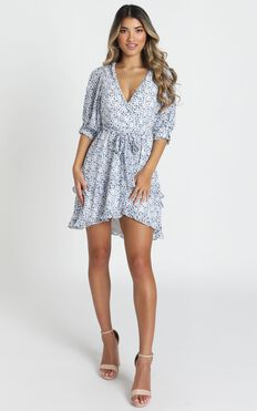Tessa Dress In Blue Floral