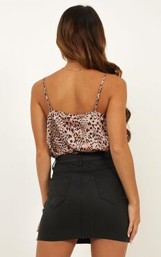 My Only Sunshine Top In Mocha Leopard Satin