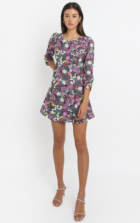 Nessi Mini Dress in Forest Floral
