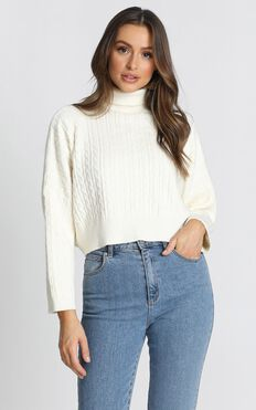 Kendra Knit Jumper In Cream