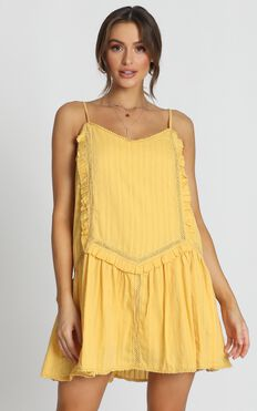 Tonya Mini Dress In Yellow