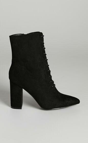 Verali - Danielle Boots in Black Micro