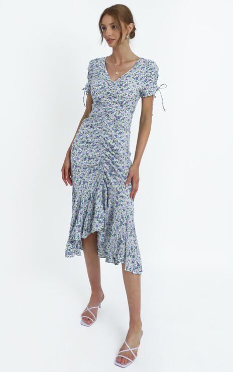 Vienna Dress in Blue Floral