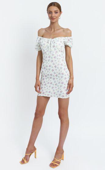 Suzie Dress in White Floral