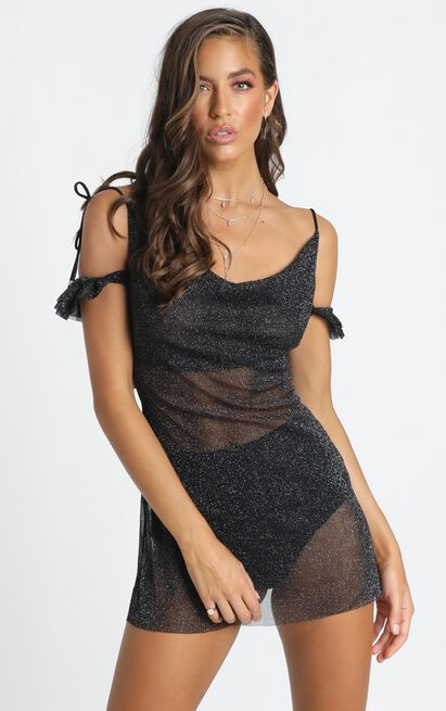 My Perfect Place Dress in black lurex - 20 (XXXXL), Black, hi-res image number null