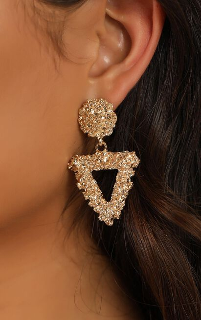 Not Too Late Earrings In Gold, , hi-res image number null