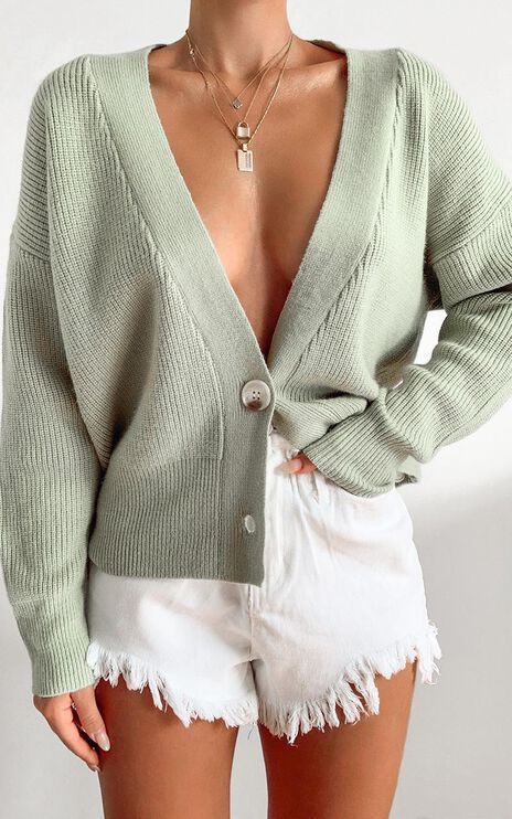 Original Trendsetter Knit Cardigan in Pistachio