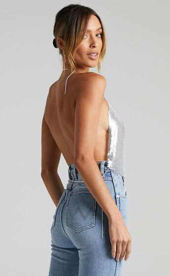 Tiana Top in Silver