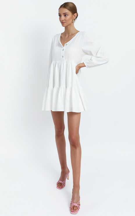 Justine Dress in White