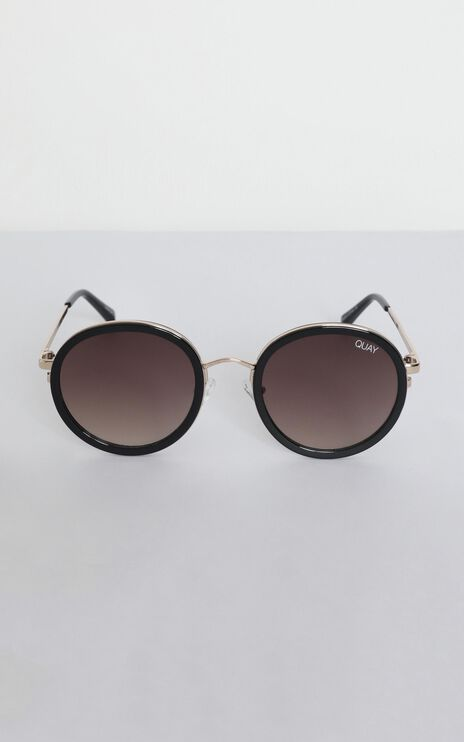 Quay - Firefly Sunglasses In Black And Brown Lens